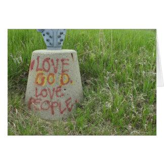 Graffiti inspirational Love God People Card