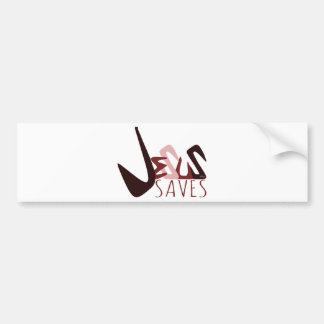 GRAFFITI JESUS SAVES in red Bumper Sticker