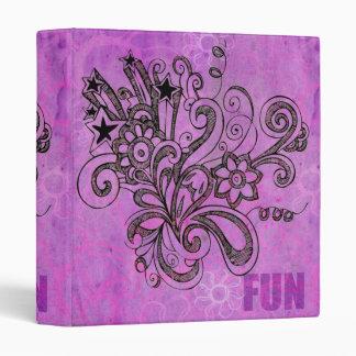 Graffiti Large Block Fun in Purple Binder