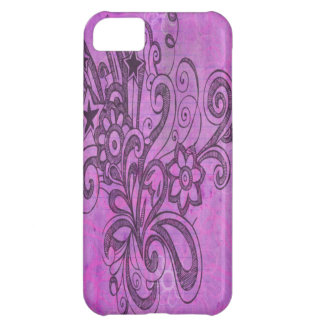 Graffiti Large Block Fun in Purple iPhone 5C Cases