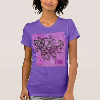 Graffiti Large Block Fun in Purple T-Shirt