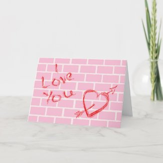 Graffiti Love card by BWMedia Designs