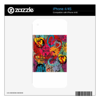 Graffiti Love Skins For iPhone 4S