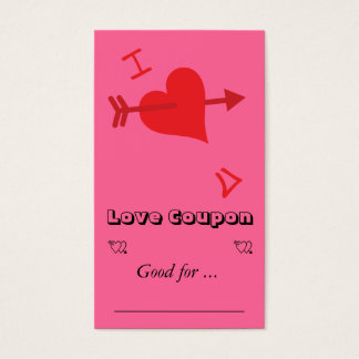 Graffiti Love - Valentines Day Business Card