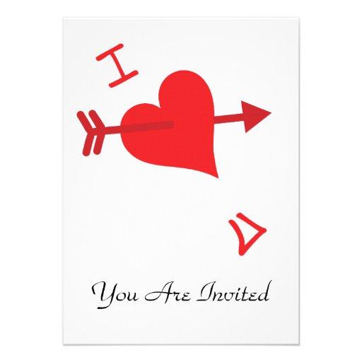 Graffiti Love - Valentines Day Personalized Invitations