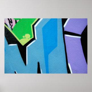 graffiti macro detail poster