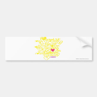 Graffiti Magenta/Yellow Bumper Sticker