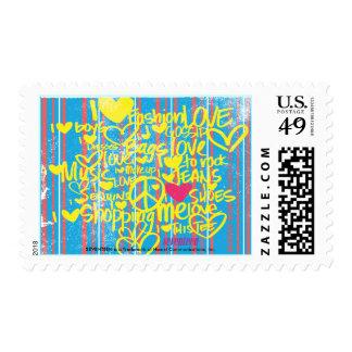 Graffiti Magenta-Yellow Stamp