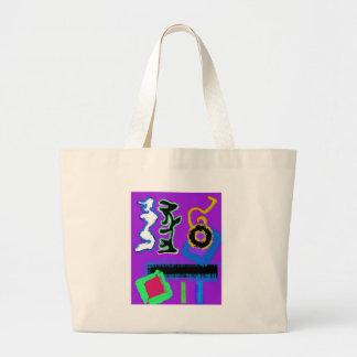 Graffiti ~ Modern Art ~  Modern colourful vibrant Large Tote Bag