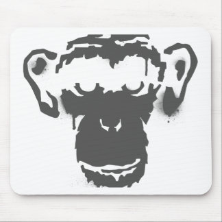 Graffiti Monkey Mouse Pad