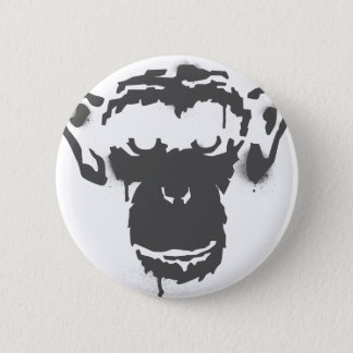 Graffiti Monkey Pinback Button