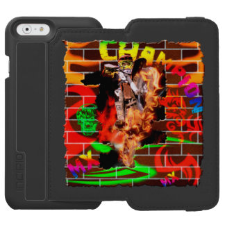 Graffiti Motocross wall iPhone 6/6s Wallet Case