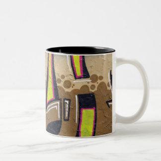 graffiti mugs taza de dos tonos