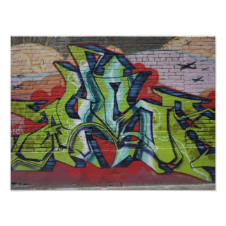 Graffiti posters zazzle for Poster mural 4 murs