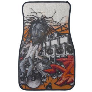 Graffiti music car mat