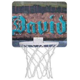 Graffiti Name Tag: David Mini Basketball Hoop