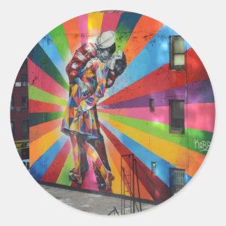 Graffiti of New York Classic Round Sticker
