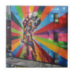 Graffiti of New York Small Square Tile