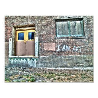 """Graffiti on a wall """"I am art"""" Photo"""
