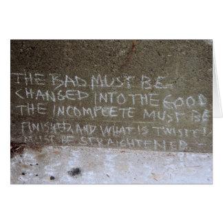 Graffiti on North Wall, Stairs to Kitsilano Beach Greeting Card