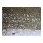 Graffiti on North Wall, Stairs to Kitsilano Beach Post Card