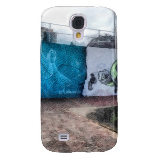 Graffiti on the wall galaxy s4 cover
