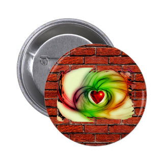 GRAFFITI ON THE WALL: THE ARTIST'S HEART ~ PINBACK BUTTONS