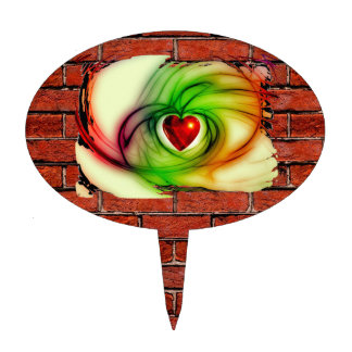 GRAFFITI ON THE WALL: THE ARTIST'S HEART ~ CAKE TOPPER