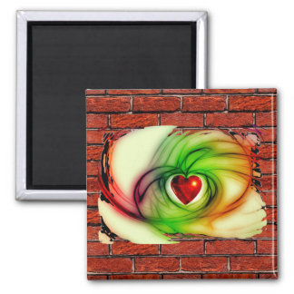 GRAFFITI ON THE WALL: THE ARTIST'S HEART! MAGNET