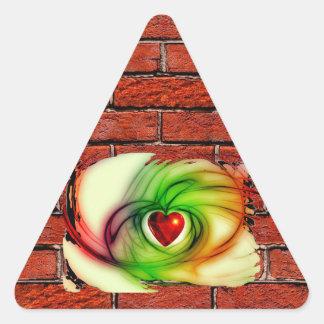 GRAFFITI ON THE WALL: THE ARTIST'S HEART ~ TRIANGLE STICKER