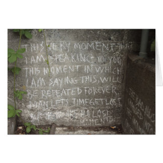 Graffiti on West Wall, Stairs to Kitsilano Beach Greeting Card
