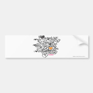 Graffiti Orange Car Bumper Sticker