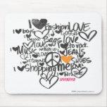 Graffiti Orange Mouse Pad