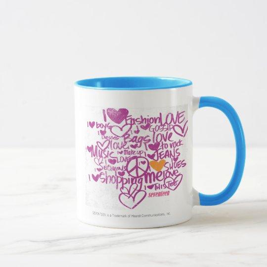 Graffiti Orange/Purple Mug