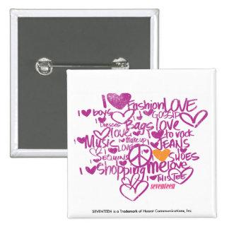Graffiti Orange/Purple Pinback Button