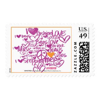 Graffiti Orange-Purple Postage Stamp