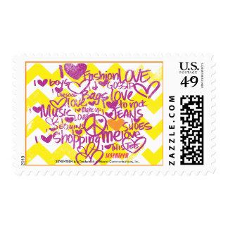 Graffiti Orange-Purple Stamp