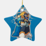 Graffiti Double-Sided Star Ceramic Christmas Ornament