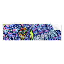 Graffiti Owl Art Bumper Sticker