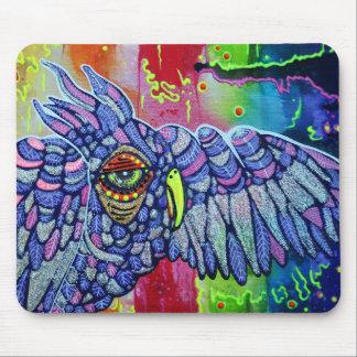 Graffiti Owl Art Mouse Pad