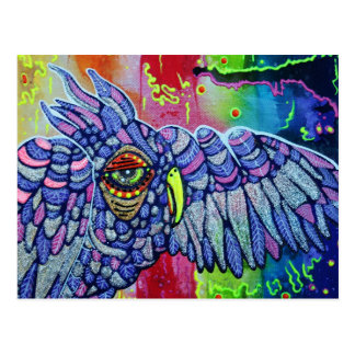 Graffiti Owl Art Postcard
