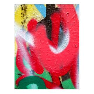 graffiti paint layers postcard