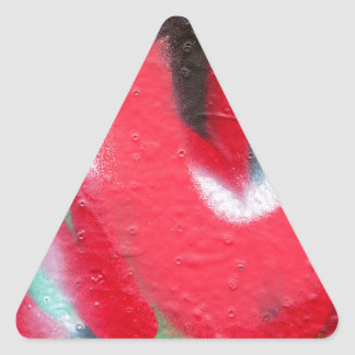 graffiti paint layers triangle sticker