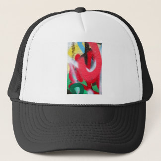graffiti paint layers trucker hat