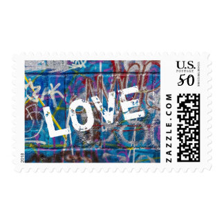 Graffiti Paint Love Postage Stamp