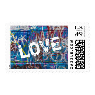 Graffiti Paint Love Postage Stamp