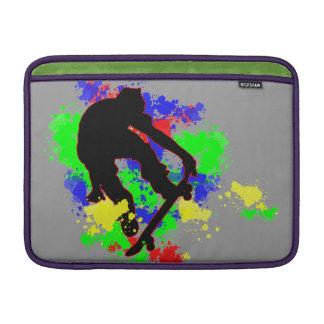 Graffiti Paint Splotches Skateboard MacBook Sleeves