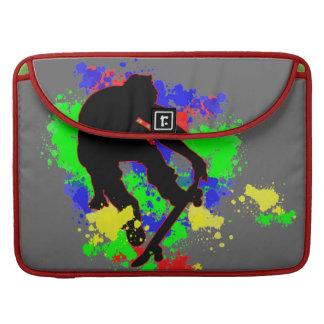 Graffiti Paint Splotches Skateboard Sleeve For MacBooks