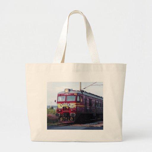 Graffiti Painted Train Tote Bags