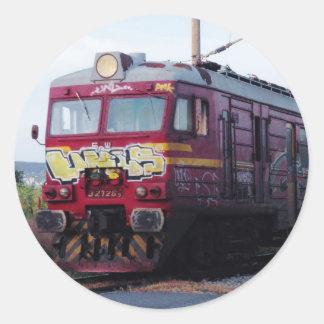 Graffiti Painted Train Classic Round Sticker